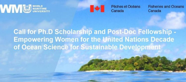 Call for Ph.D Scholarship and Post-Doc Fellowship - Empowering Women for the United Nations Decade of Ocean Science for Sustainable Development