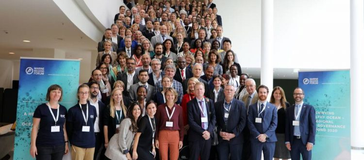 Attendees of the 2019 Marine Regions Forum in Berlin, Germany [Mike Muzurakis, IISD Reporting Services]