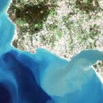 Satellite image of the Tagus estuary